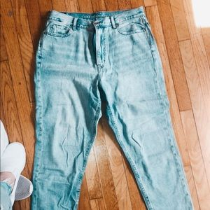 American Eagle highest rise mom jeans